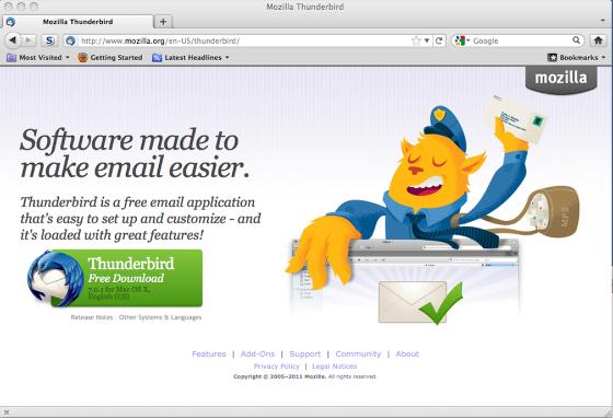 Thunderbird Mac Os